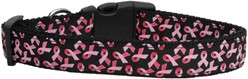 Pink Ribbons Breast Cancer Awareness Collar