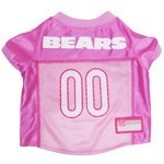 Chicago Bears Pink Pet Football Jersey