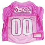 New England Patriots Pink Pet Football Jersey