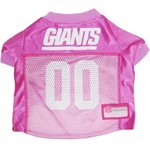 New York Giants Pink Pet Football Jersey