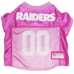 Oakland Raiders Pink Pet Football Jersey