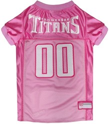Tennessee Titans Pink Pet Football Jersey