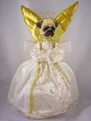 Pug Angel Tree Topper