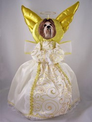 Shih Tzu Angel Tree Topper
