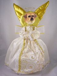 Tibetan Spaniel Angel Tree Topper