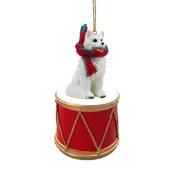 American Eskimo Drum Christmas Ornament