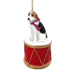 American Foxhound Drum Christmas Ornament