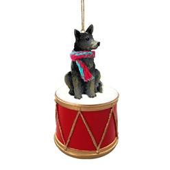 Australian Cattle Dog Drum Christmas Ornament