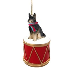 Belgian Tervuren Drum Christmas Ornament