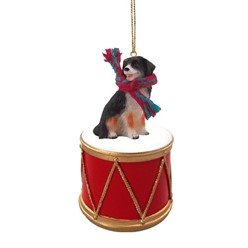 Bernese Mountain Dog Drum Christmas Ornament