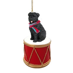 Bouvier Drum Christmas Ornament