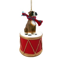 Boxer Drum Christmas Ornament