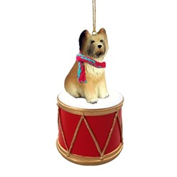 Briard Drum Christmas Ornament