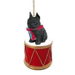 Brussels Griffon Drum Christmas Ornament