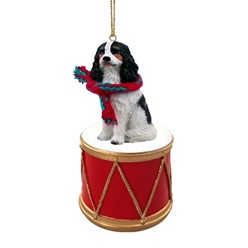 Cavalier King Charles Drum Dog Christmas Ornament