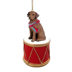 Chesapeake Bay Retriever Drum Dog Christmas Ornament