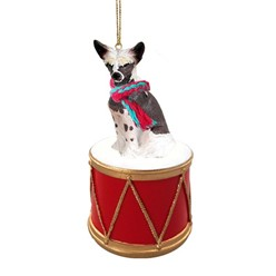 Chinese Crested Drum Christmas Ornament