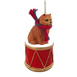 Chow Drum Dog Christmas Ornament