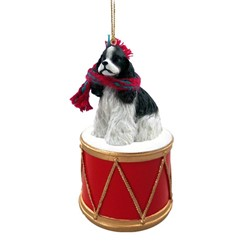 Cocker Spaniel Drum Dog Christmas Ornament