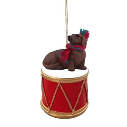 Dachshund Drum Dog Christmas Ornament