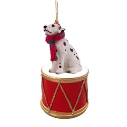 Dalmatian Drum Dog Christmas Ornament