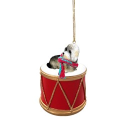 Dandie Dinmont Drum Dog Christmas Ornament
