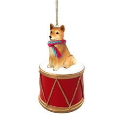 Finnish Spitz Drum Dog Christmas Ornament