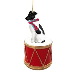 Smooth Fox Terrier Drum Christmas Ornament