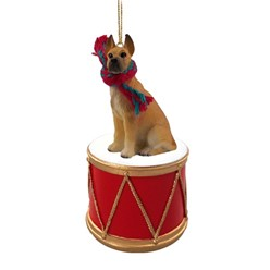 Great Dane Drum Dog Christmas Ornament