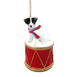 Jack Russell Terrier Drum Dog Christmas Ornament