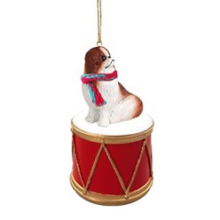 Japanese Chin Drum Dog Christmas Ornament