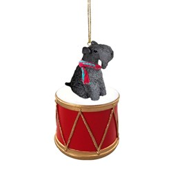 Kerry Blue Drum Dog Christmas Ornament