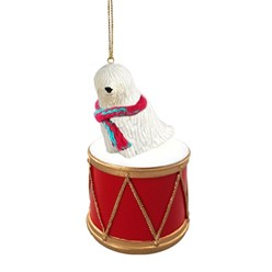Komondor Drum Dog Christmas Ornament