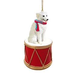 Kuvasz Drum Christmas Ornament