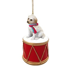 Labradoodle Drum Dog Christmas Ornament
