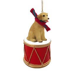 Labrador Retriever Drum Dog Christmas Ornament