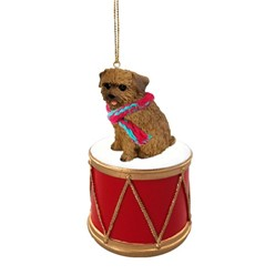 Norfolk Terrier Drum Dog Christmas Ornament