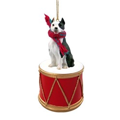 Pit Bull Drum Dog Christmas Ornament