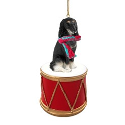 Saluki Drum Dog Christmas Ornament