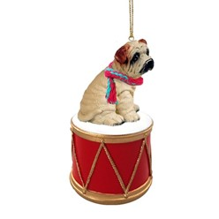 Shar Pei Drum Dog Christmas Ornament