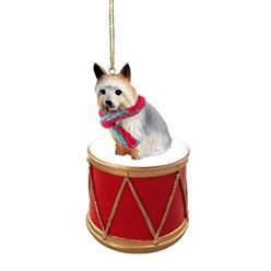 Silky Terrier Drum Dog Christmas Ornament