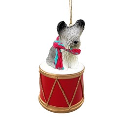 Skye Terrier Drum Dog Christmas Ornament
