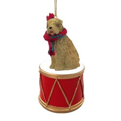 Soft Coated Wheaten Drum Dog Christmas Ornament