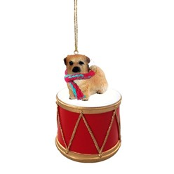 Tibetan Spaniel Drum Dog Christmas Ornament