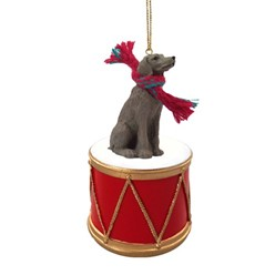 Weimaraner Drum Dog Christmas Ornament
