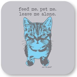 Feed Me, Pet Me Cat Coasters, Set of 12