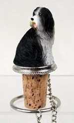 Bearded Collie Bottle Stopper