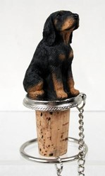 Black and Tan Coonhound Bottle Stopper