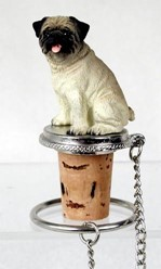 Pug Bottle Stopper