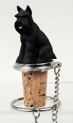 Schnauzer Bottle Stopper- Click for more breed colors